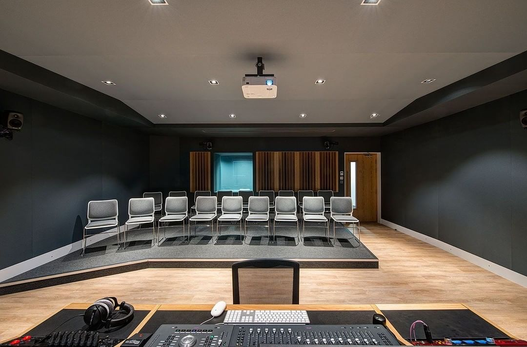 Into music? You'll be into this recording studio space we created with the seriously talented leading acoustic company, White Mark for the University for Gloucestershire.