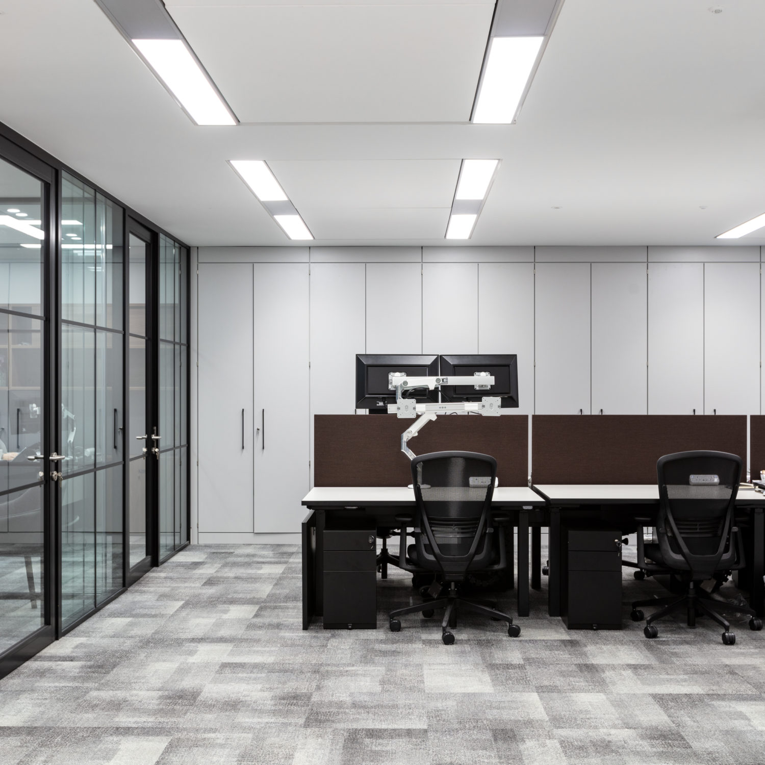 workstations with a minimal modern aesthetic