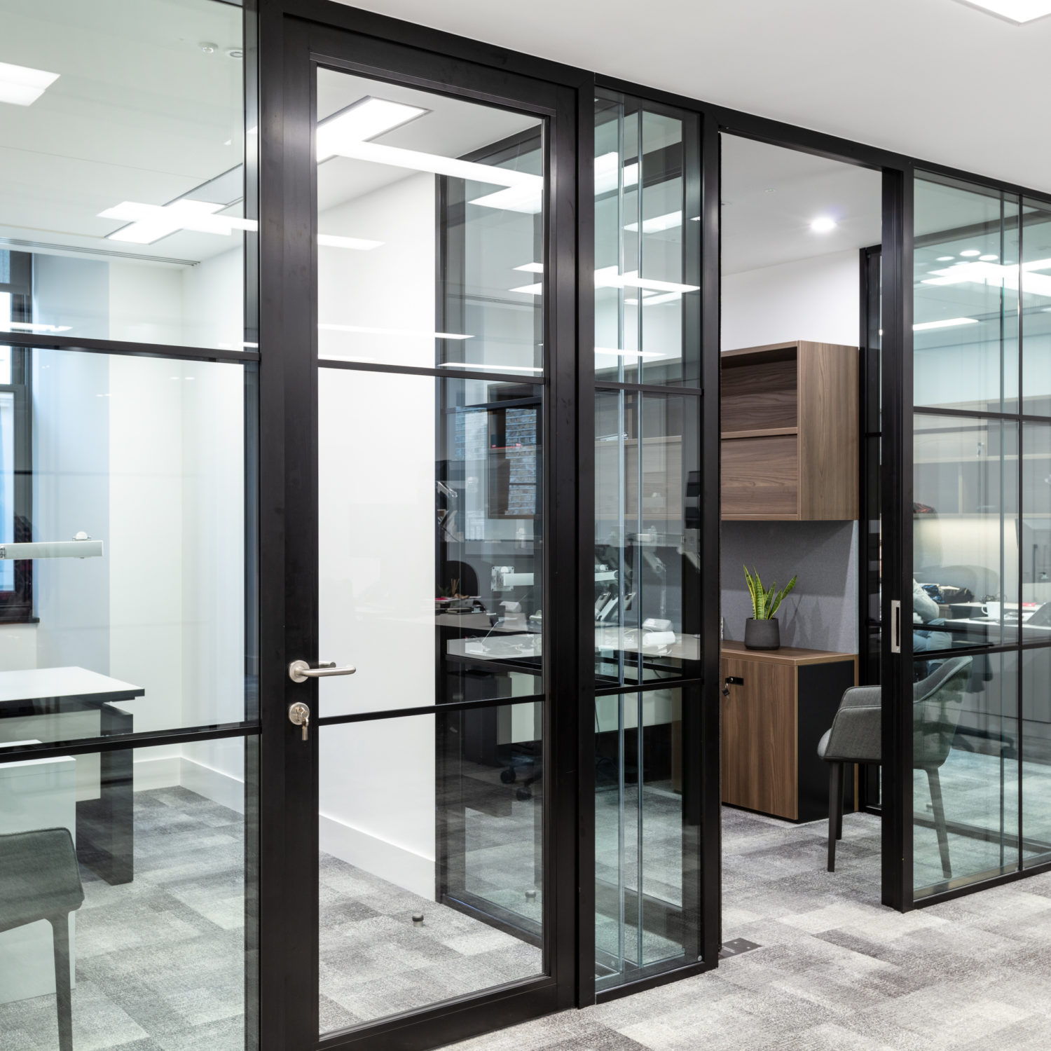 Private offices with a minimal clean timeless aesthetic