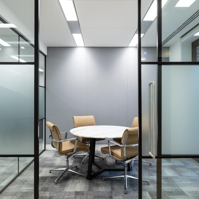 Modern bright meeting room