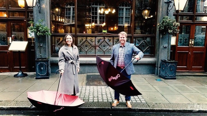 Taking our new umbrellas out for a spin!